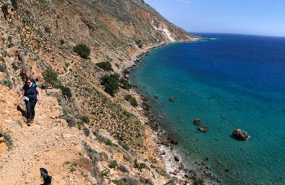 self-guided walking tours of crete, greece