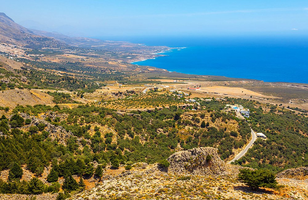 independent trekking tours of crete, greece