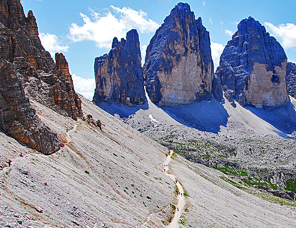 independent trekking in the dolomites, italy