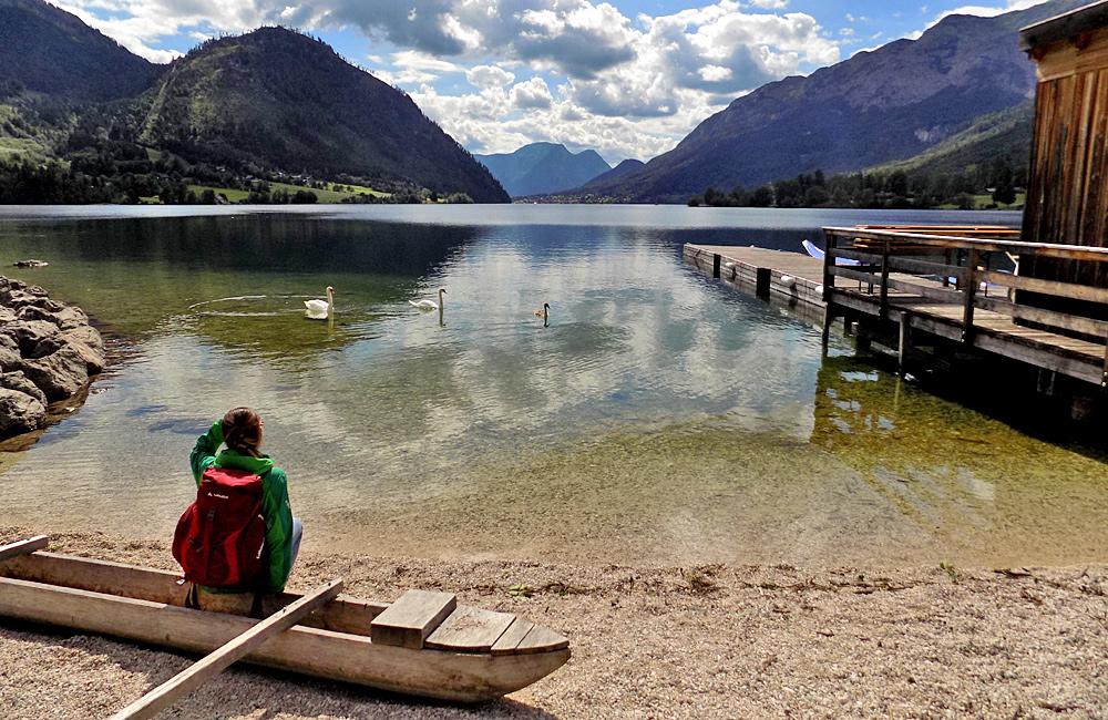 aussee lake trekking in austria