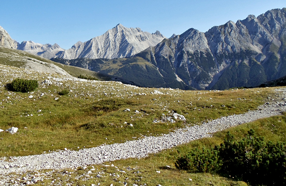 independent hiking and trekking in the alps, germany