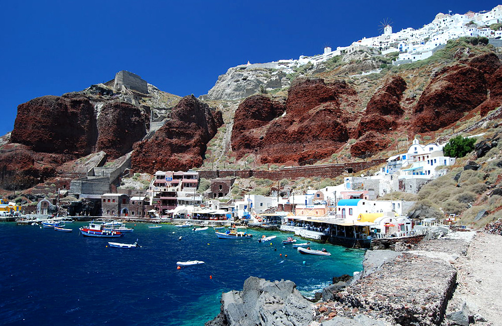 naxos and santorini self-guided walking tour