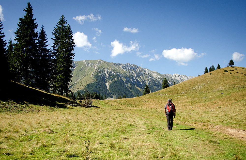 family hiking tour romania