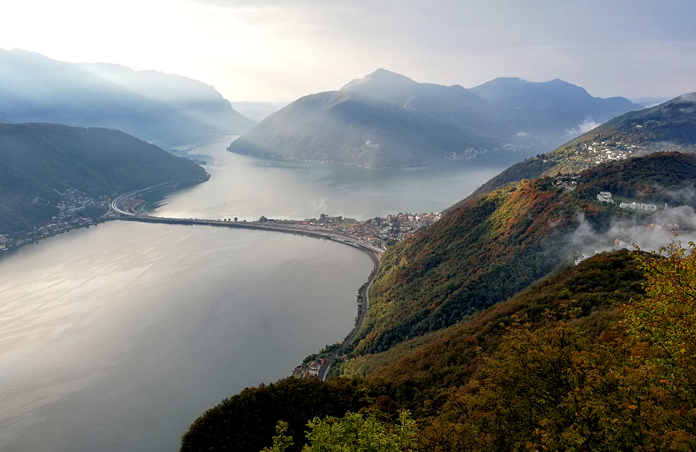 como lugano lakes self-guided trekking italy