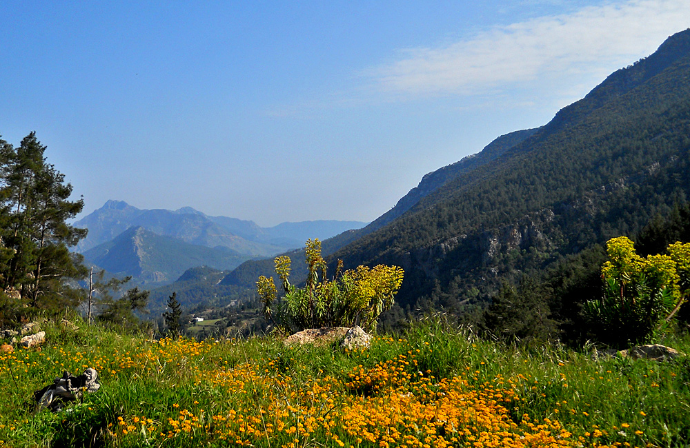 walking tour along the lycian way in turkey