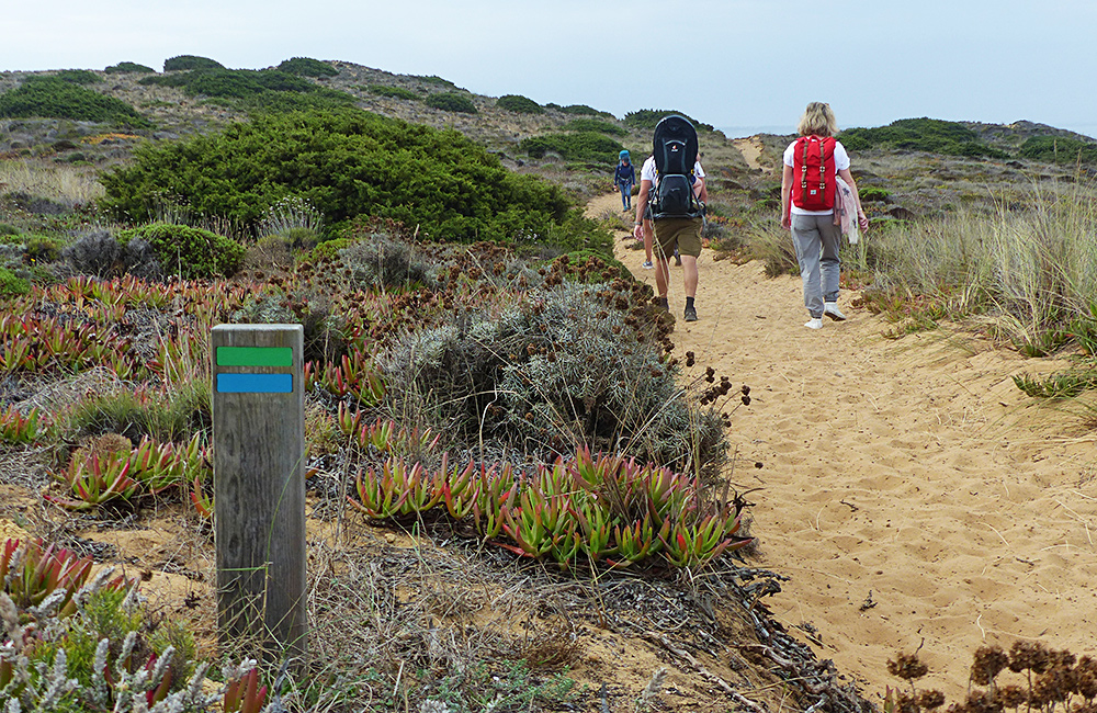 independent trek along rota vicentina