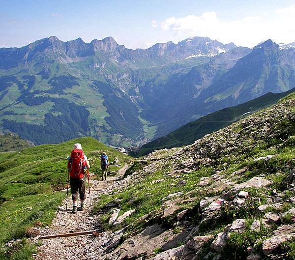 via alpina independent trekking tour in the alps of switzerland