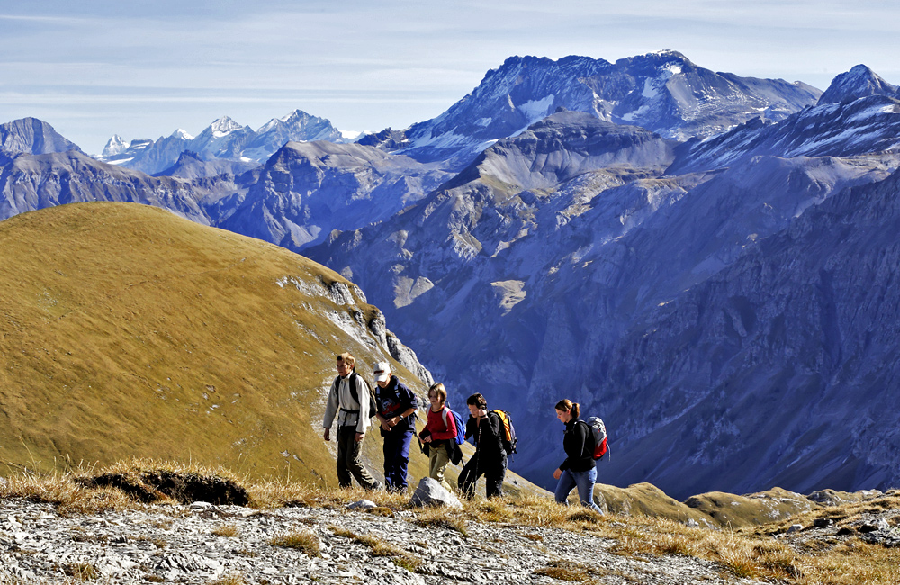 self-guided hiking in switzerland via alpina
