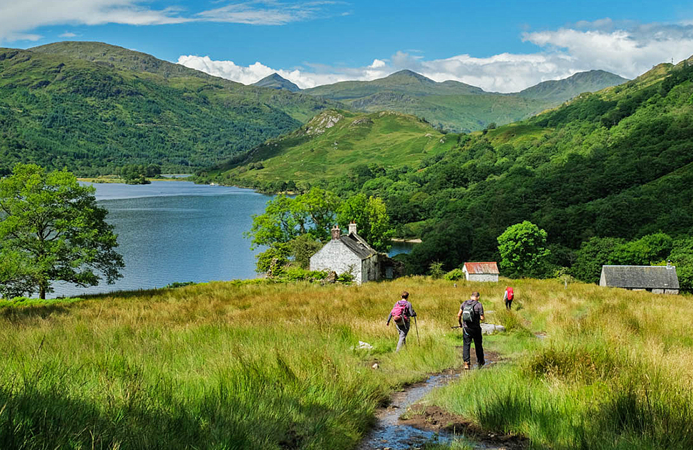self-guided walking and hiking in scotland