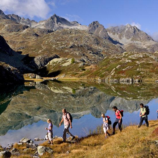 via albula bernina self-guided hiking switzerland