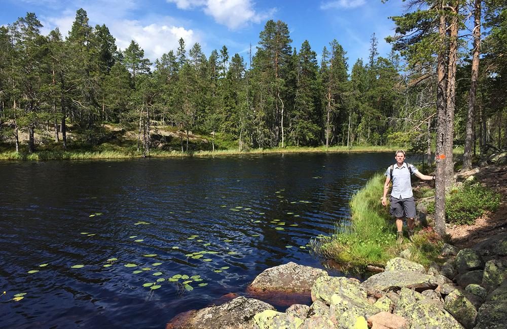 high coast trail in sweden
