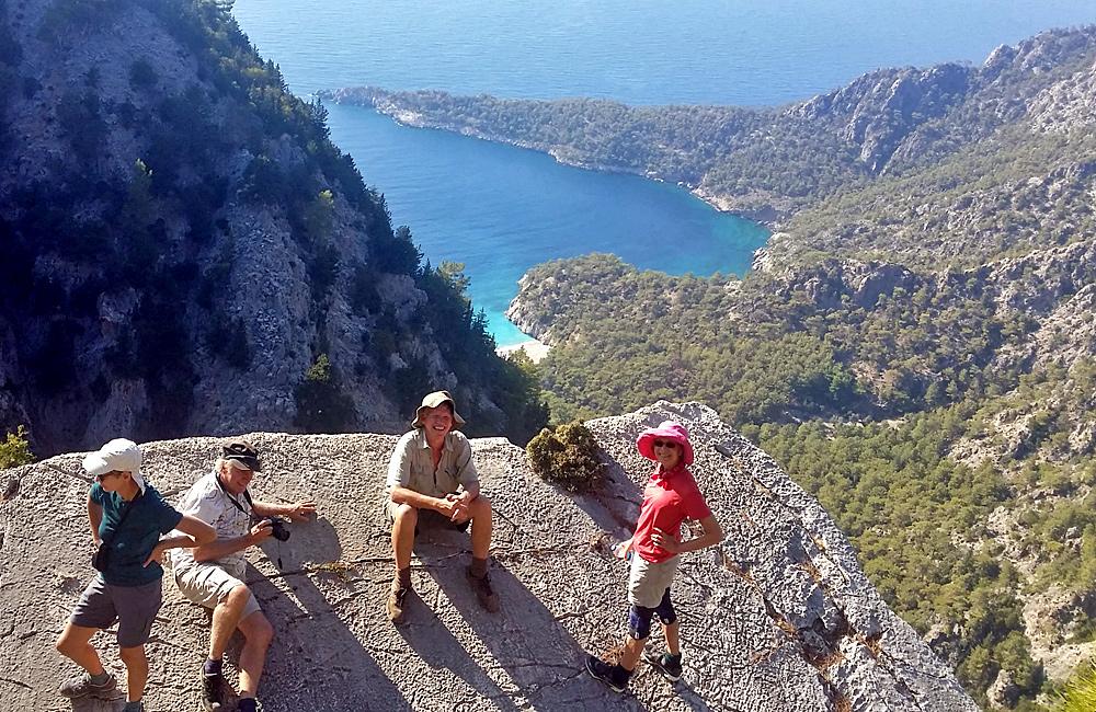 trekking along the lycian way