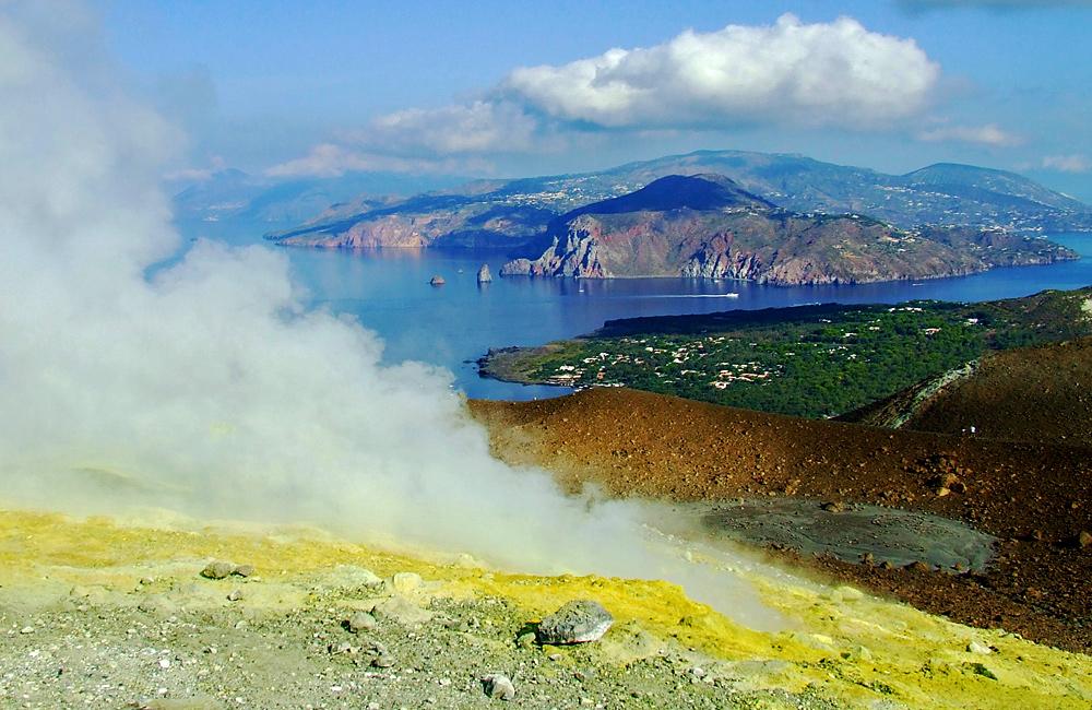 aeolian islands of lipari and stromboli, and sicily etna volcano self-guided walking