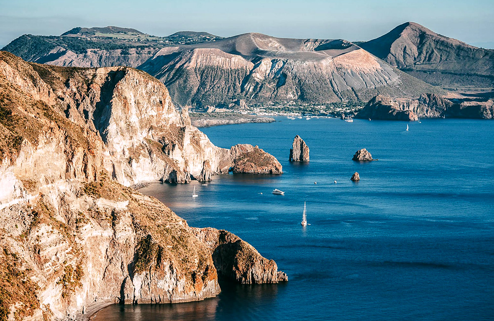 aeolian islands of lipari and stromboli, and sicily etna volcano independent hiking