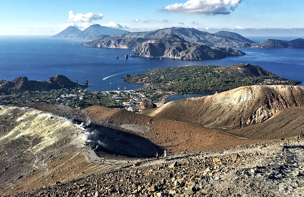 aeolian islands of lipari and stromboli, and sicily etna volcano independent walking