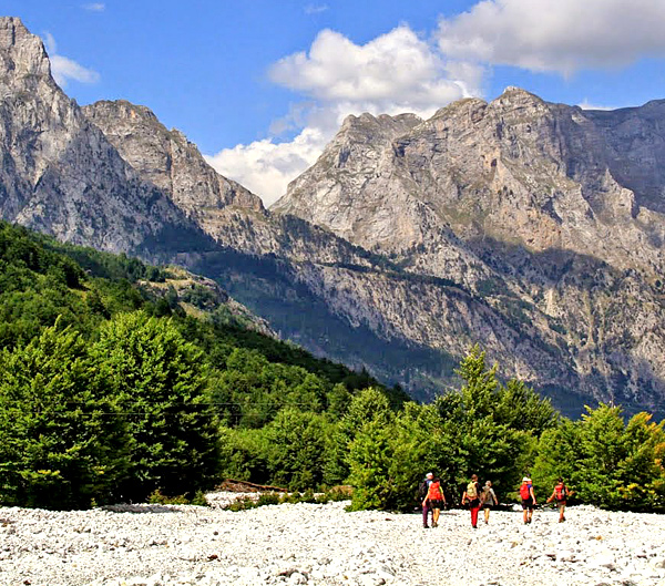 self-guided hiking and walking in albania