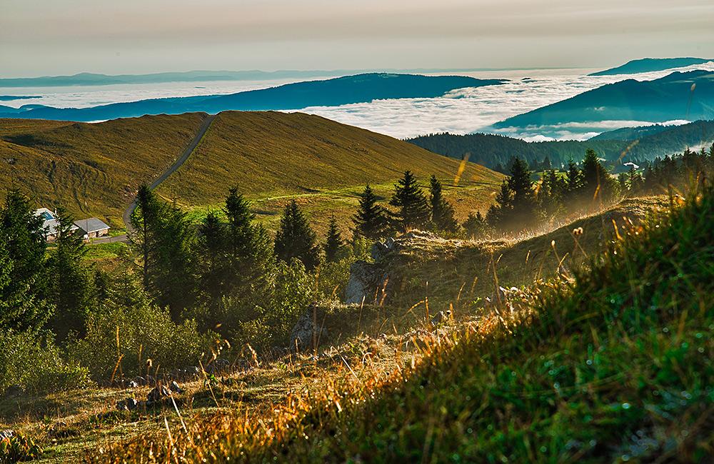 inn to inn trekking jura crest switzerland