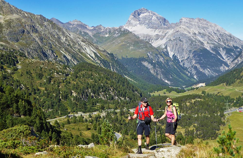 grisosn self-guided trekking in switzerland