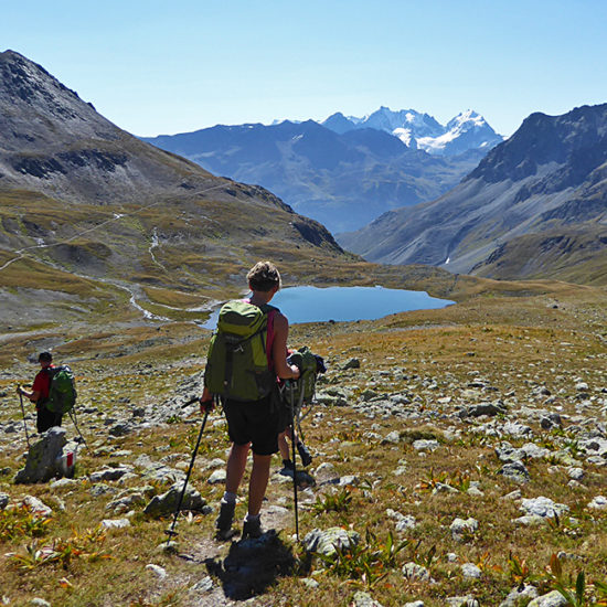grisons self-guided walk in the alps