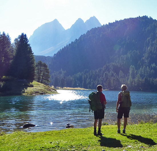 grisons trek in the swiss alps