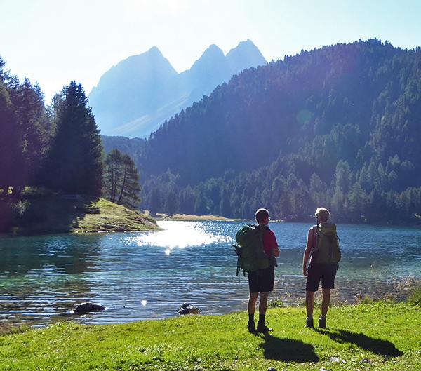 grisons trek in the swiss alps