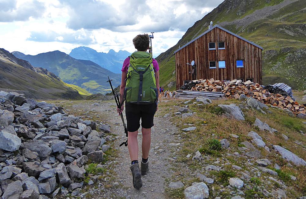 trekking in grisons, switzerland