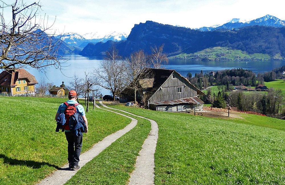 lake lucerne inn to inn trekking in switzerland