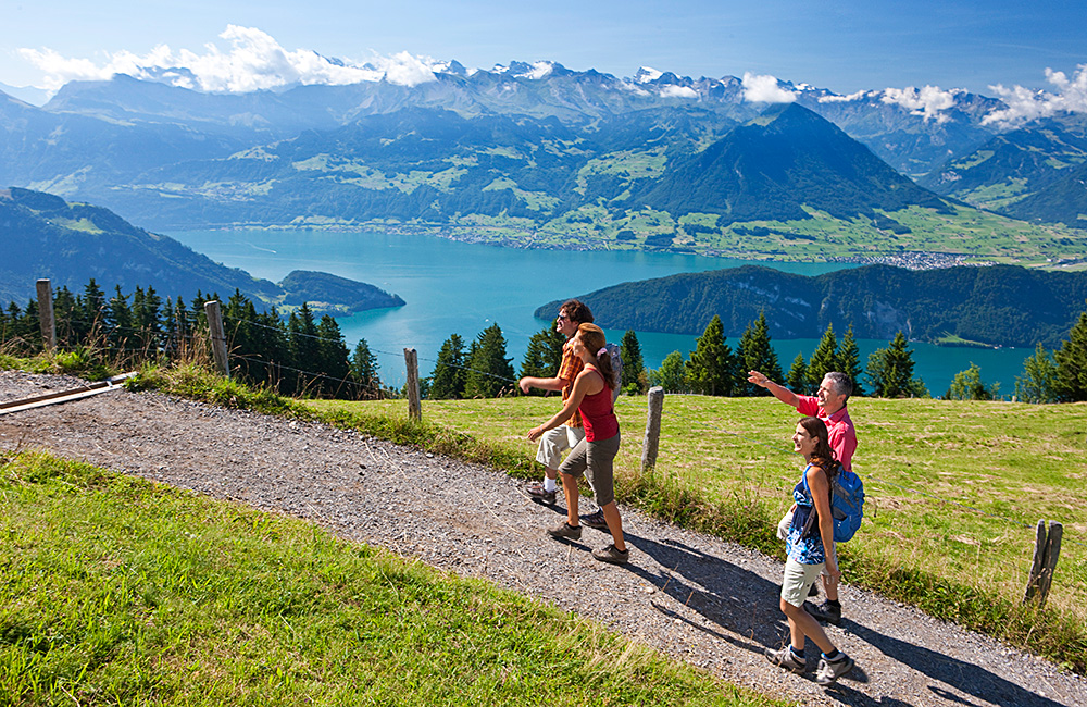 self-guided hiking around lake lucerne in switzerland