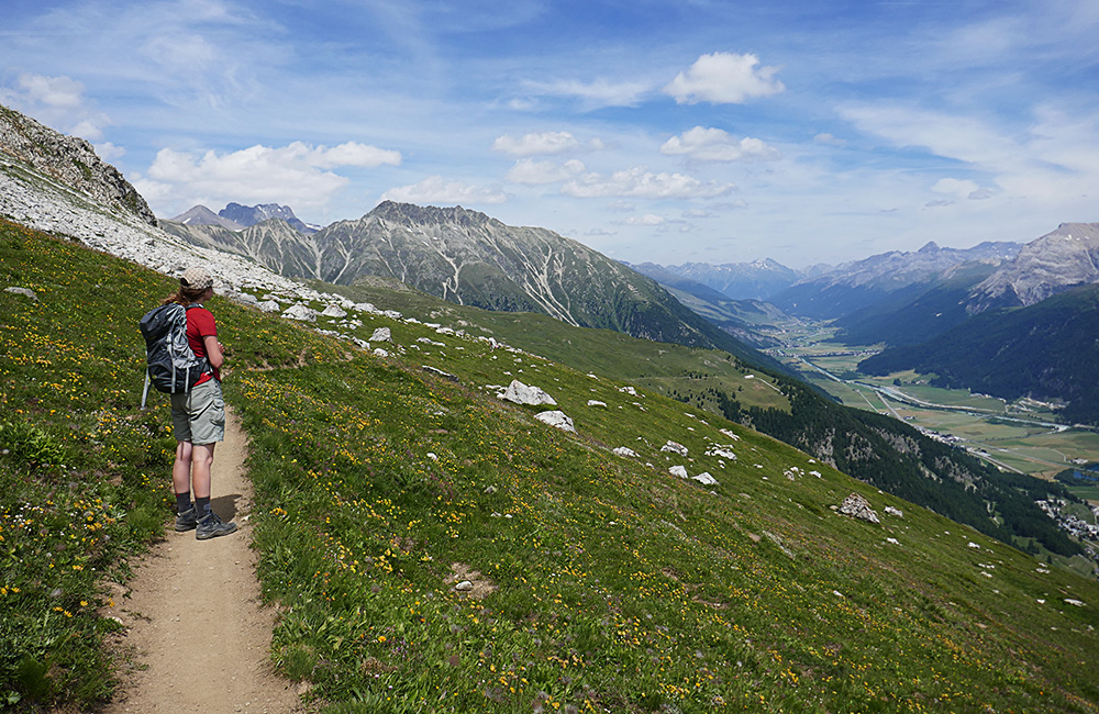 via engiadina trekking and rambling holidays in switzerland