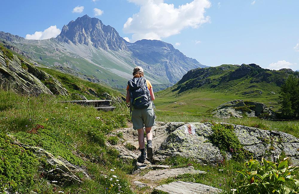 self-guided hiking trek along the via engiadina trail in switzerland
