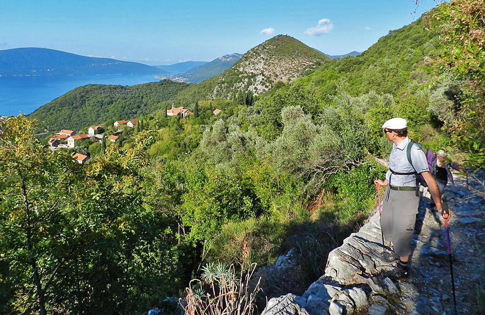 bay of kotor hiking and walking in montenegro