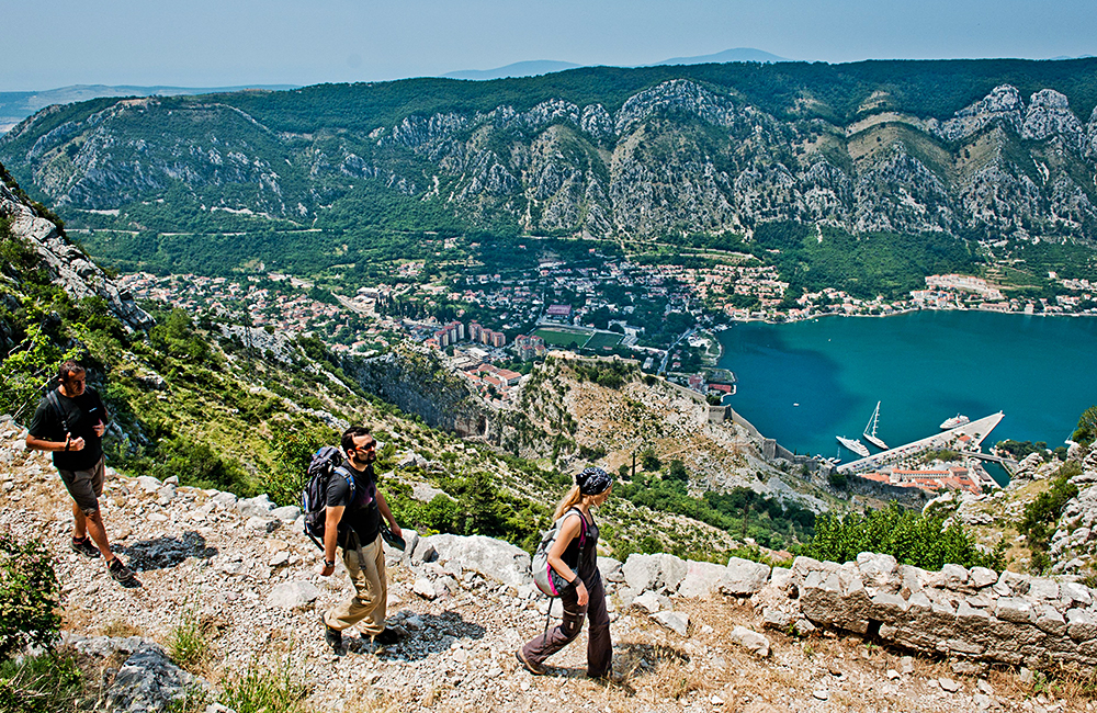 montenegro unguided walking vacations