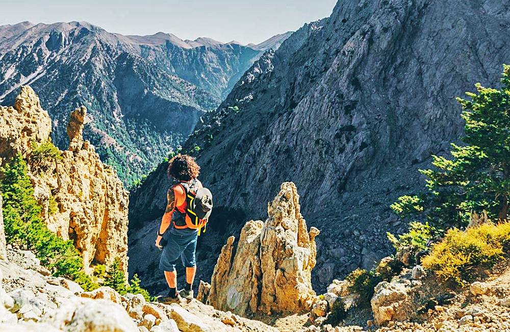 self-guided hiking tour in crete, greece