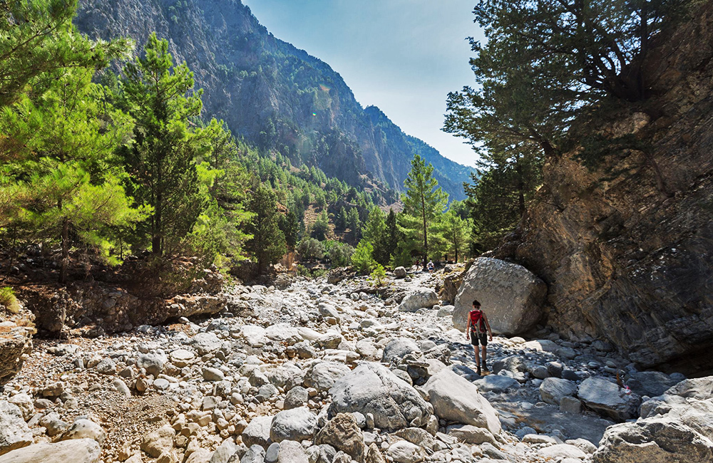 unguided hiking tour in crete, greece
