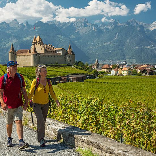 via francigena independent trekking in switzerland