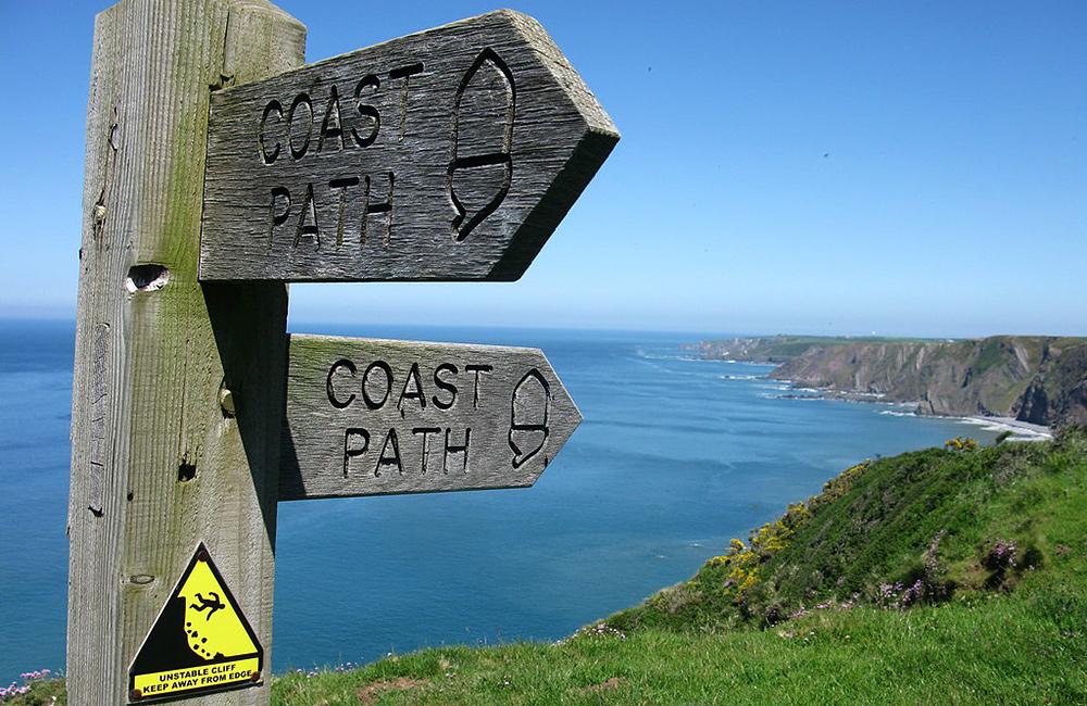 south west coast path walking in england