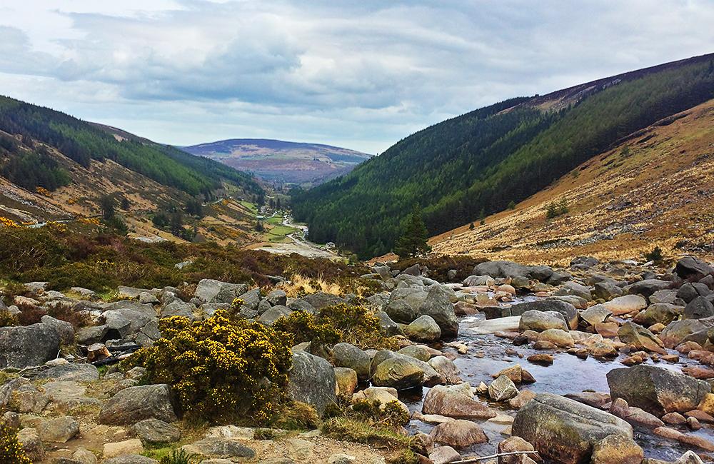 self-guided trekking along wicklow way in ireland